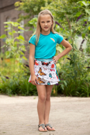 Lovestation22-Girls Skirt Paula -Scuba  Blue