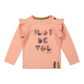 Dirkje-Girls Baby T-shirt ls-Ash pink