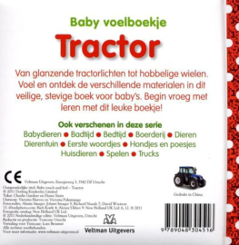 Baby voelboekje Tractor-CBC-Wit