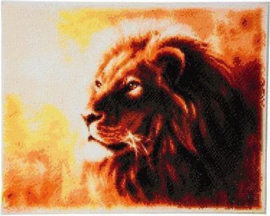 Chrystel Art Kit-Diamand Painting -Proud Lion-Craft Buddy- Multi Color