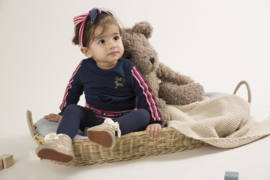 Girls Baby dress- Dirkje-  Navy + red + pink