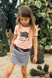 Koko Noko-Girls Skort-Dark grey + off white