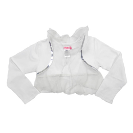 LoFff-Girls Bolero de luxe- White