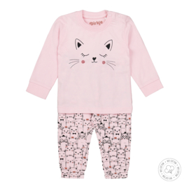 Dirkje-Baby Girls  2 pce  pyjamas Bio Cotton-Light pink