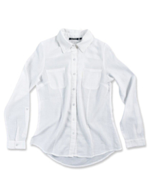 Girls Blouse- Blue Seven- White