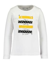 Kids Girls knitted T-Shirt-Blue Seven- White orig
