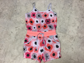 LoFff-Girls Summer Jumpsuit -Pink flowers