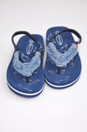 Unisex Flip-flops with denim upper- Trentino- blauw-maat 23t/m25
