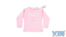 T-Shirt Roze Als Papa en Mama NEE zeggen: 0800-OPA-OMA 3M-VIB-Rose-white