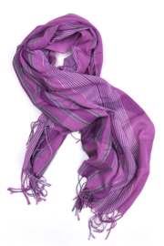 Girls Geweven Sjaal Silver-T- purple