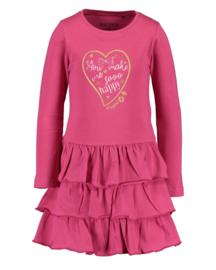 Blue Seven-Kids Girls knitted dress-Magenta