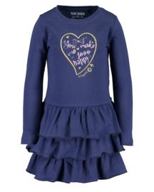 Blue Seven-Kids Girls knitted dress-DK Blue orig