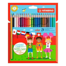 Stabilo Color kunstof etui met 24 stuks kleurpotloden