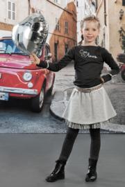Girls Skirt Argenta- LoFff- Light grey - Silver