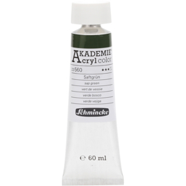 Acryl color-sap green (560), semi-transparent, fade resistant, 60ml-Schmincke AKADEMIE