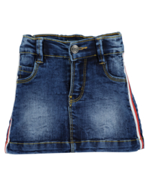 Kids girls woven jeans skirt -Blue Seven-Jeans Blue Orig