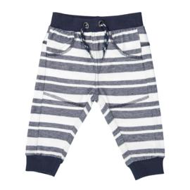 Boys Trousers -Dirkje-Navy+White stripe