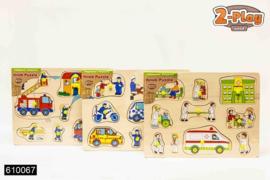 Knopjes puzzel hout 112-C-Diverse kleuren