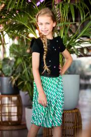B.Nosy-Girls woven satin skirt with slanted stripe print-Stripe sunny