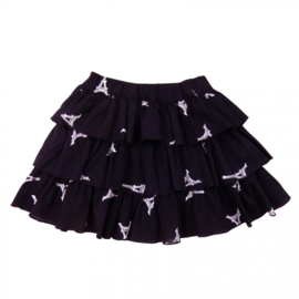 Girls Panel skirt - LoFff- Black White