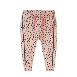 Dirkje-Baby Girls Trousers-Smokey pink + aop