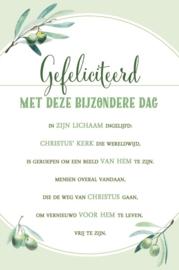 Baaij Light Cards-Wenskaart Gefeliciteerd met deze bijzondere dag-White-green