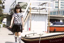 Girls dress with ao zebra printed top and coated skirt-B.Nosy-AO Zebra