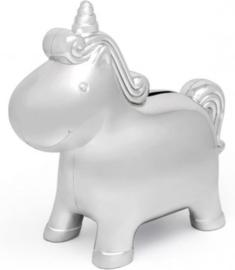 Zilverstad-Unisex Spaarpot Unicorn-Silver