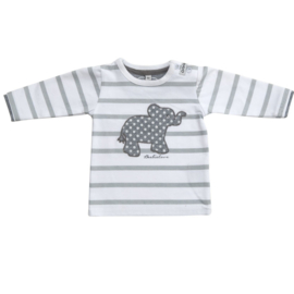 Unisex Shirt NB Elephant-Beebielove-White