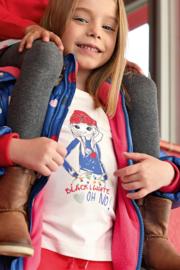 Blue Seven-Kids Girls knitted T-shirt-Off White orig