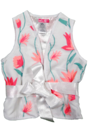 Girls Bolero Multicolour- LoFff- white
