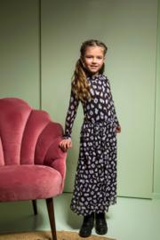 B.Nosy-Girls ikat mesh midi dress-you leopard-Multi Color
