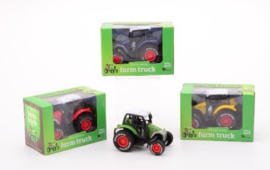 Farm Masters Die-Cast tractor pull-back-C-3 assorti