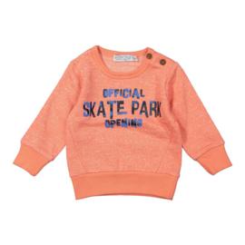 Baby Boys Sweater- Dirkje- faded orange melee