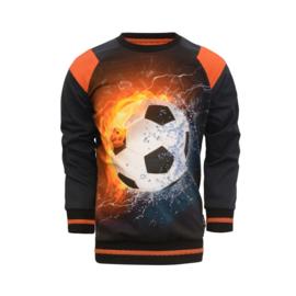 Legends22-Boys  Raglan sweater Sietse-Black/D.Blue