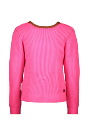 B.Nosy-Girls Kids heavy knitted pullover with lurex-Pink glo
