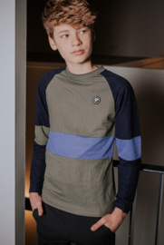 Bellaire-Long sleeves T-shirt cut and sewn-Deep Forest
