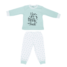 Unisex Baby Pyjama I Love You-Beeren- LPC- Green