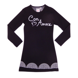 Girls Dress Con Amore- LoFff- Black