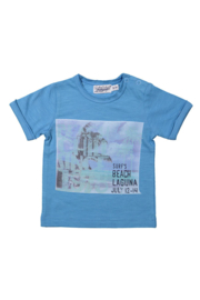 Baby boys t-shirt- Dirkje- Mid blue