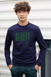 Bellaire-Round neck sweater-Navy Blazer