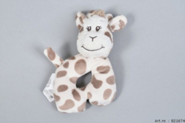 Zaza-Zoo Toys- Giraffe met rammelaar rond- White