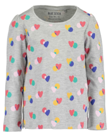 Blue Seven-Kids Girls knitted T-shirt-Grey Melee aop orig