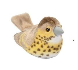 Trendzz-Vogels met geluid-Zanglijster-Brown