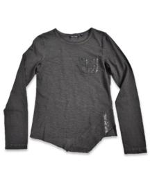Girls T-Shirt- Blue Seven- Grey