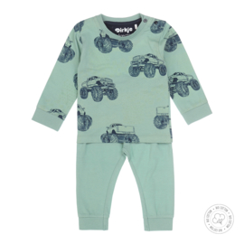 Dirkje-Baby Boys  2 pce  pyjamas Bio Cotton-Smokey green