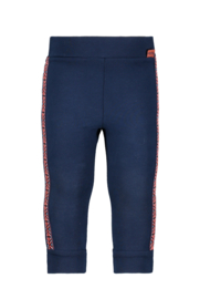 Bampidano-Baby Girls sweat trousers Dorien with tapes FLOWER-Indigo