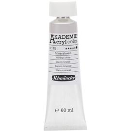 Acryl color-mineral white (115)-opaque, extr. fade resistant, 60ml-Schmincke AKADEMIE