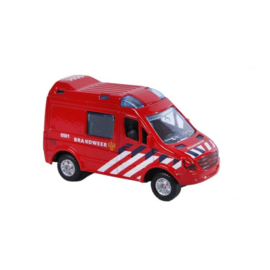 Kids Globe Die-Cast Pull-back Brandweer-C-Red