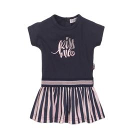 Dirkje-Baby Girls Dress ss-Navy + light Pink